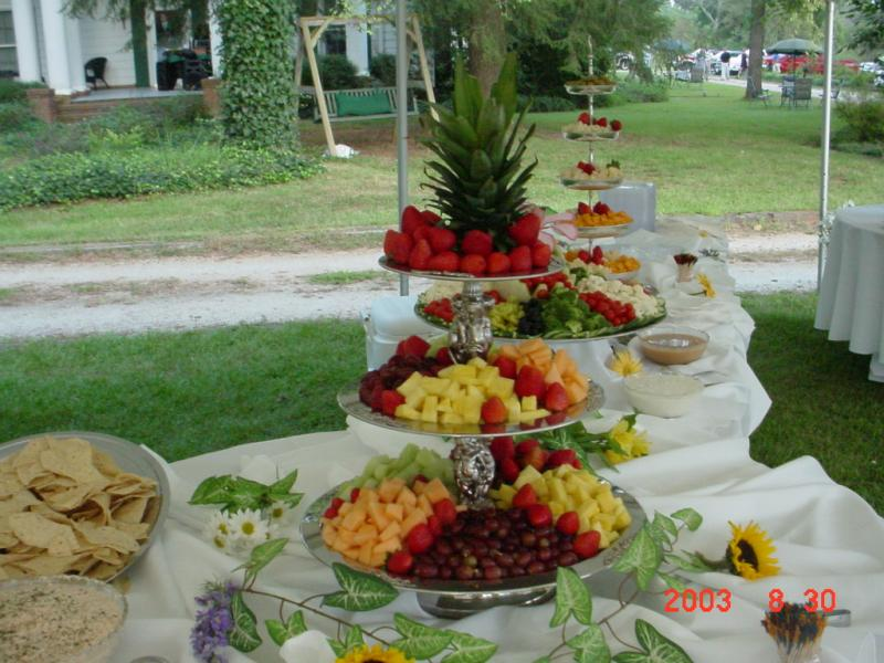 Wedding Buffet Table Setup Buffet table set-up for an