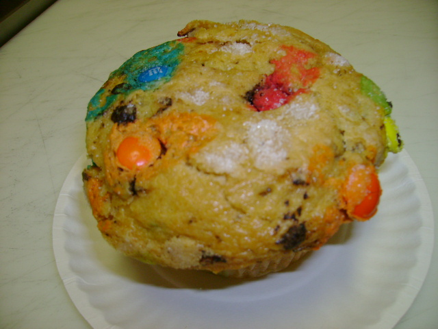 M & M Chocolate Chip Muffin