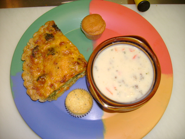 Vegetable Quiche w/Soup & Mini's